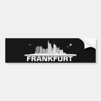 Frankfurt town center of skyline bumper sticker