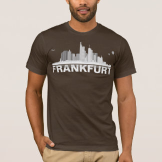 Frankfurt town center of skyline shirt