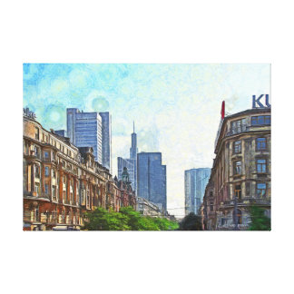 Frankfurt. View of the Kaiserstrasse. Canvas Print