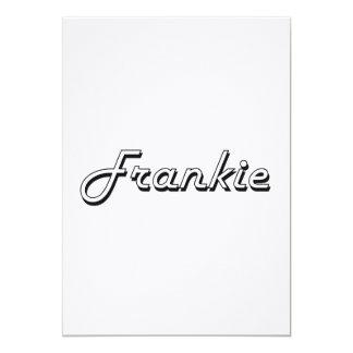 "Frankie Classic Retro Name Design 5"" X 7"" Invitation Card"