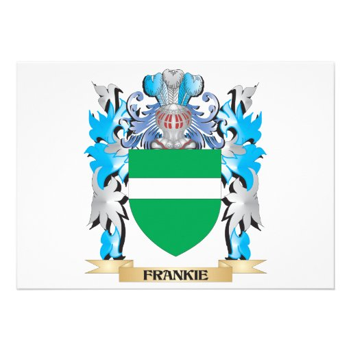 Frankie Coat of Arms - Family Crest Custom Announcement