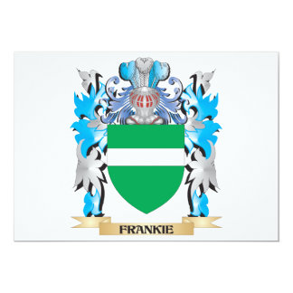 "Frankie Coat of Arms - Family Crest 5"" X 7"" Invitation Card"