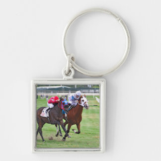 Frankie Pennington #9 Silver-Colored Square Keychain