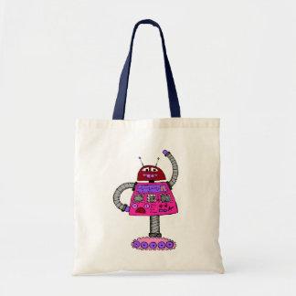 Frankie Robot: Pink on white Tote Bag