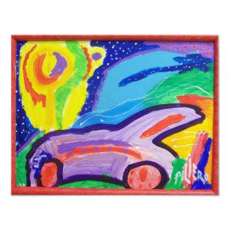 "Frankie's Car 4.25"" X 5.5"" Invitation Card"