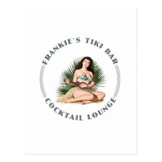 Frankie's Tiki Bar Hula Girl Postcard