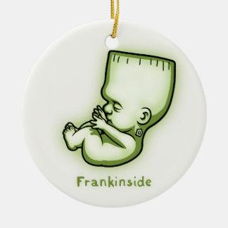 Frankinside Round Ceramic Ornament