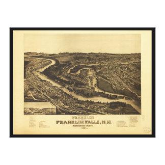 Franklin and Franklin Falls, New Hampshire (1884) Canvas Print