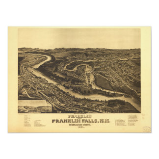 Franklin and Franklin Falls, New Hampshire (1884) Card