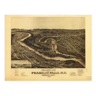 Franklin and Franklin Falls, New Hampshire (1884) Postcard
