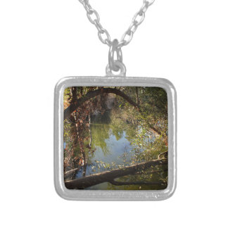 Franklin Canyon Park Lake 4 Silver Plated Necklace