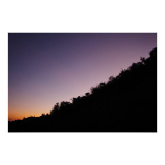 Franklin Canyon Park Twilight Poster