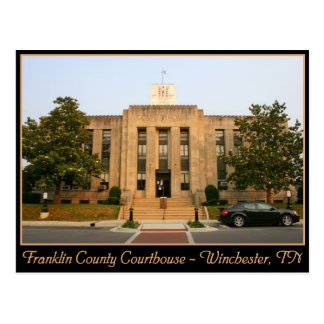 Franklin County Courthouse - Winchester, TN Postcard