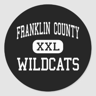 Franklin County - Wildcats - High - Brookville Classic Round Sticker
