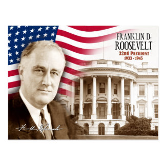Franklin D. Roosevelt -  32nd President of the U.S Postcard