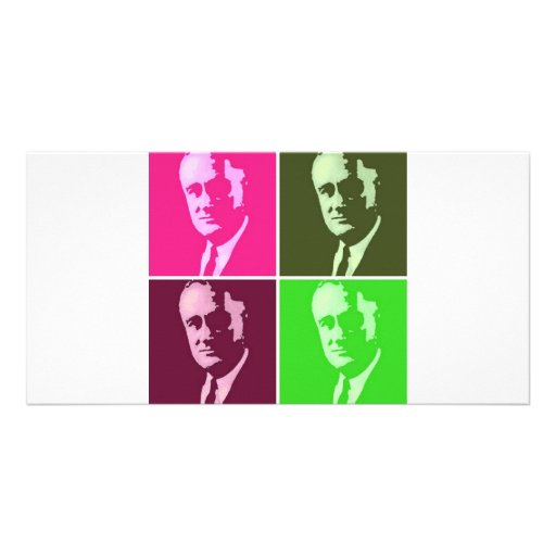 Franklin D. Roosevelt Customized Photo Card