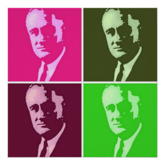 Franklin D. Roosevelt Pop Art Poster