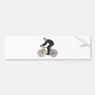 Franklin D Roosevelt Riding Bike With Dime Wheels Bumper Sticker