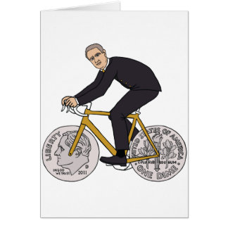 Franklin D Roosevelt Riding Bike With Dime Wheels Card