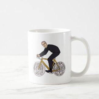 Franklin D Roosevelt Riding Bike With Dime Wheels Coffee Mug