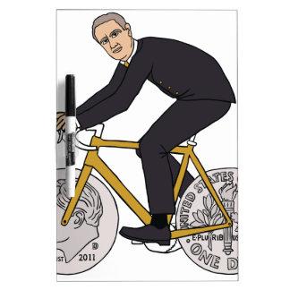 Franklin D Roosevelt Riding Bike With Dime Wheels Dry Erase Board