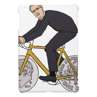 Franklin D Roosevelt Riding Bike With Dime Wheels iPad Mini Cover