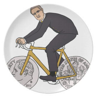 Franklin D Roosevelt Riding Bike With Dime Wheels Plate