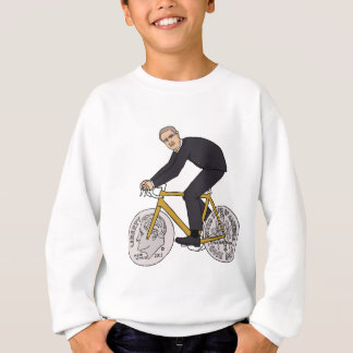 Franklin D Roosevelt Riding Bike With Dime Wheels Sweatshirt