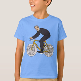 Franklin D Roosevelt Riding Bike With Dime Wheels T-Shirt