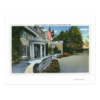 Franklin D Roosevelt's House Postcard