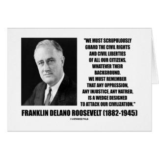 Franklin Delano Roosevelt Civil Rights Citizens Card
