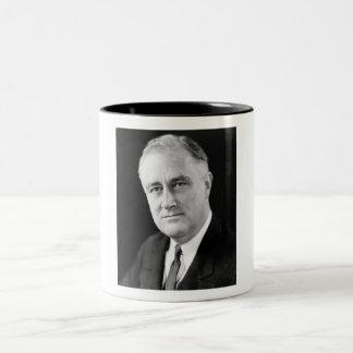 Franklin Delano Roosevelt Two-Tone Coffee Mug