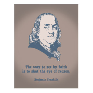 Franklin - Eye of Faith Postcard