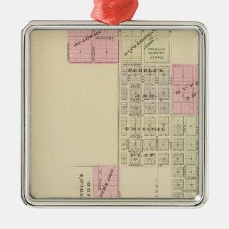 Franklin, Nebraska Silver-Colored Square Ornament