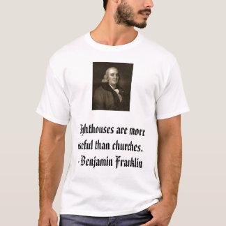 Franklin on Churches T-Shirt