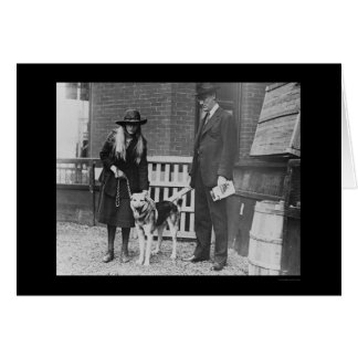 Franklin Roosevelt at the Dog Show 1920 Card