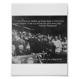 Franklin Roosevelt baseball poster