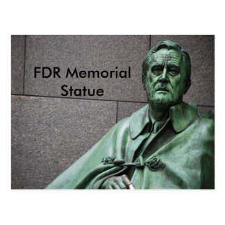 Franklin Roosevelt Statue at the FDR Memorial Postcard
