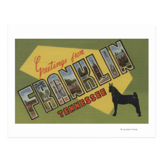 Franklin, Tennessee - Large Letter Scenes Postcard