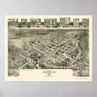 Franklin, VA Panoramic Map - 1907 Poster