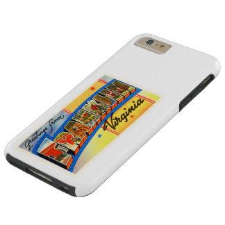 Franklin Virginia VA Old Vintage Travel Postcard- Tough iPhone 6 Plus Case