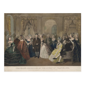 Franklin's Reception at the Court of France Postcard