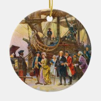 Franklin's Return to Philadelphia by Jean Ferris Ceramic Ornament