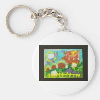Frank's Farm by Piliero Basic Round Button Keychain