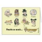 Franks So Much Thank You Funny Cartoon Card