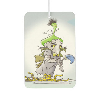 FRANKY ALIEN CARTOON Portrait Rec Air Freshener