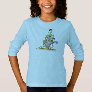 FRANKY BUTTER ALIEN CARTOON Basic Long Sleeve T B T-Shirt