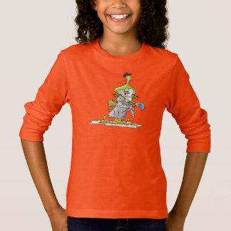 FRANKY BUTTER ALIEN CARTOON Basic Long Sleeve T O T-Shirt