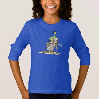 FRANKY BUTTER ALIEN CARTOON Basic Long Sleeve T R T-Shirt