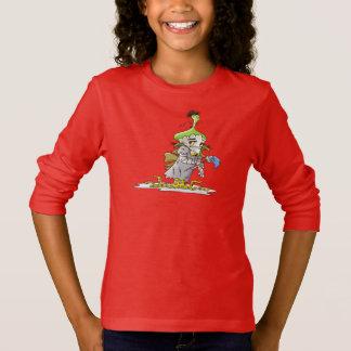 FRANKY BUTTER ALIEN CARTOON Basic Long Sleeve T RE T-Shirt